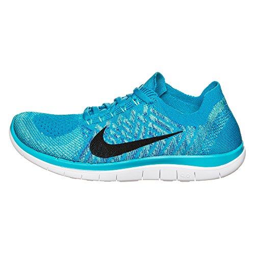 Nike Women's Wmns Free 4.0 Flyknit, BLUE LAGOON/BLACK-GAME ROYAL, 11 M US