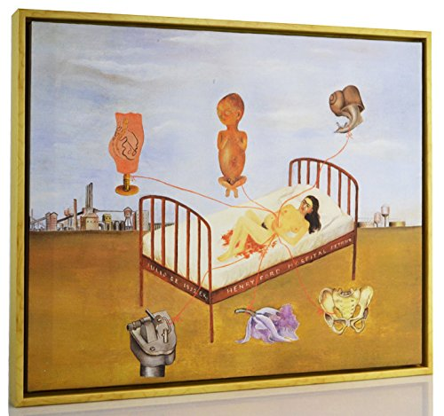 Berkin Arts Framed Frida Kahlo Giclee Canvas Print Paintings Poster Reproduction Fine Art Home Decor (Henry Ford Hospital)