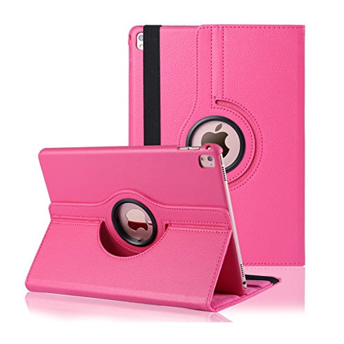 360 Degree Rotating Stand Case Cover with Auto Sleep/Wake Feature for iPad 2/3/4(8 Colors) this case is for Apple iPad 2 3 4 (Light Pink)