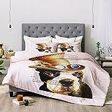 Deny Designs Coco De Paris Steampunk Boston Terrier Comforter Set, King