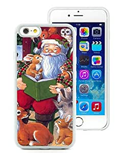 Diy iPhone 6 Case,Santa Claus With Animal White iPhone 6 4.7 Inch TPU Case 1