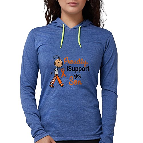 d68cfb0874c5b2 CafePress - Isupport My Son SFT Orange Long Sleeve T-Shirt - Womens Hooded  Shirt