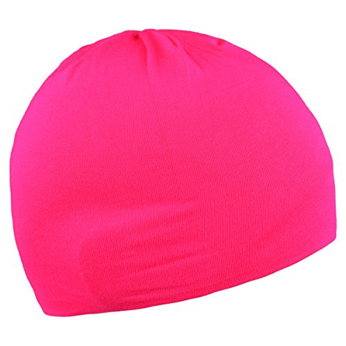Child Beanies Hats for Kids Boys Girls Toddler Infant Cotton Soft Caps (deep pink)