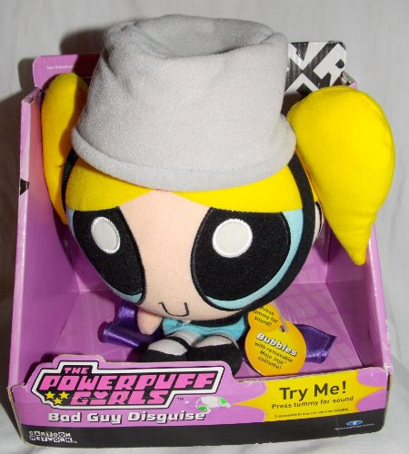 2001 Powerpuff Girls Talking Plush Bubbles Bad Guy Disguise Doll with Removable Mojo Jojo (Powerpuff Girl Costume For Guys)