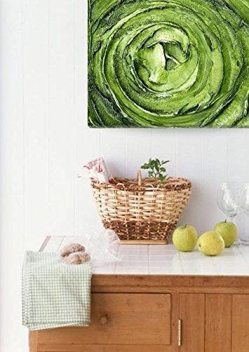 Wall Art Print entitled Green Silver Abstract Art by Susanna Shap