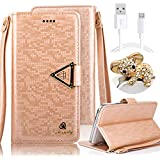 Samsung Galaxy S4 I9500 Diamond Shiny Phone Case,Vandot 3 in 1 Set Accessory PU Leather Flip Stand Wallet Case Cover Magnetic [Perfect Fit][Anti-scratch] Skin Shell With Detachable Wrist Strap+Crystal Bling Koala Anti Dust Plug+USB Data Cable,Brown
