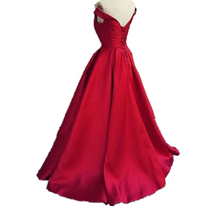 Udresses Womens Off Shoulder Long Evening Prom Dress For Party UX008 at Amazon Womens Clothing store: