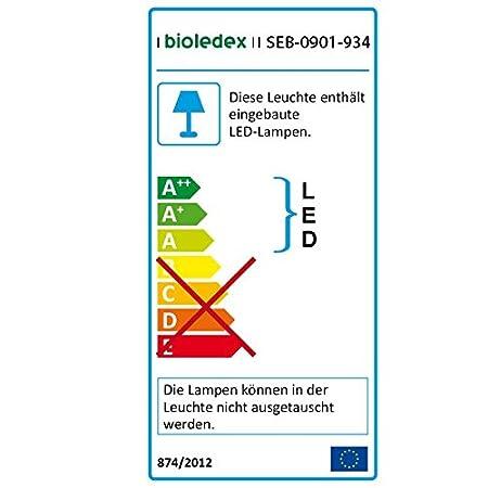 Bioledex LED Panel Rund 9W Einbauleuchte 2700K Warmweiss