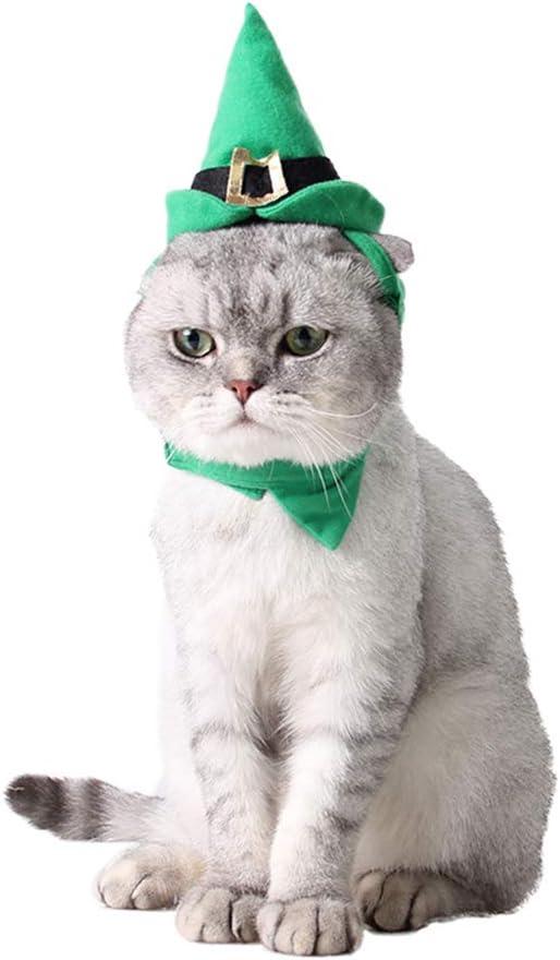 LRKZ Sombrero De Navidad para Mascotas, Sombrero De Navidad Ajustable De Poliéster, Sombrero De Puntero, Sombrero De Perro Gato: Amazon.es: Hogar
