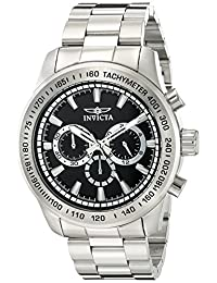 Invicta Men's 'Speedway' Quartz Stainless Steel Automatic Watch, Silver-Toned