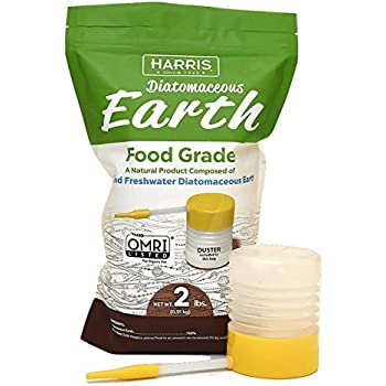 Harris Diatomaceous Earth Food Grade, 2lb with Powder Duster