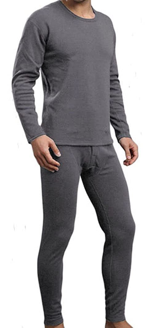 11884c3f77df Ultra Soft Microfiber Men's Thermal Underwear Long Johns Set with Fleece at  Amazon Men's Clothing store: