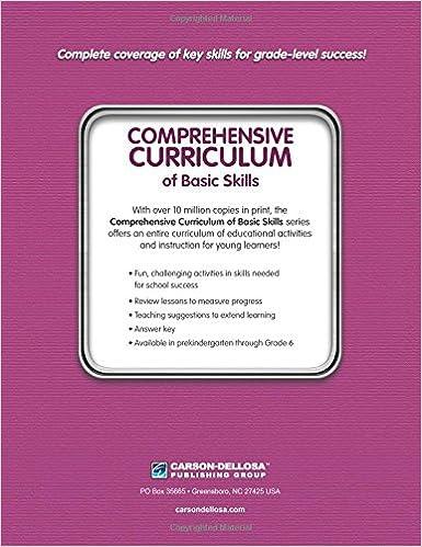 Comprehensive Curriculum of Basic Skills, Grade 6: Thinking Kids ...