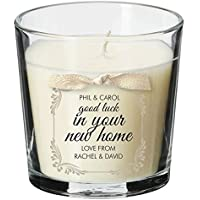 New home present personalised candle moving in house warming party property gift