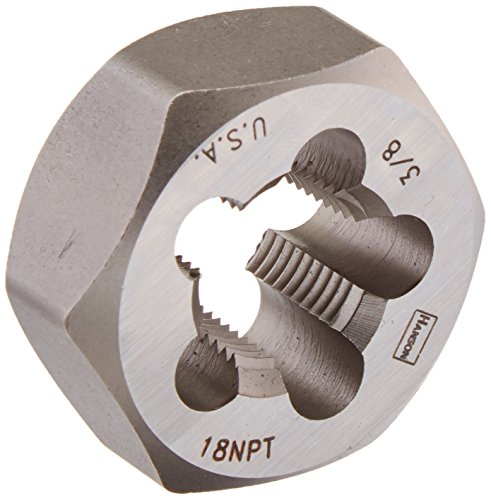 Irwin Tools 7404 Irwin High Carbon Steel Re-Threading Hexagon Taper Pipe Dies - Die 3/8-18NPT Hrt Hanson ()