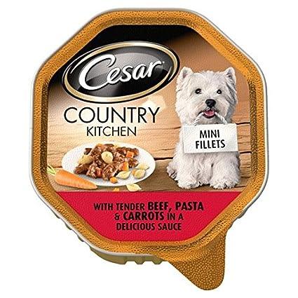 Carne Pasta y cesar la cocina del país en 150 g de salsa