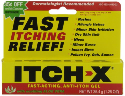 Acting Anti Itch - Itch-X Fast-Acting Anti-Itch Gel, 1.25-Ounce Tube (Pack of 4)