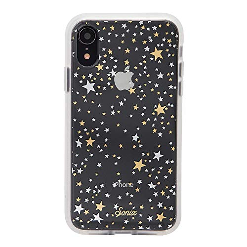 Pack Cell Phone Cases - Sonix Starry Night (Gold, Silver, Stars) Cell Phone Case [Military Drop Test Certified] Protective Clear Case for Apple iPhone XR