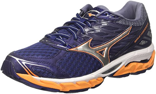 Mizuno Men Wave Paradox 4 Running Shoes Multicolored (Eclipse/Silver/Brightmarigold 04)