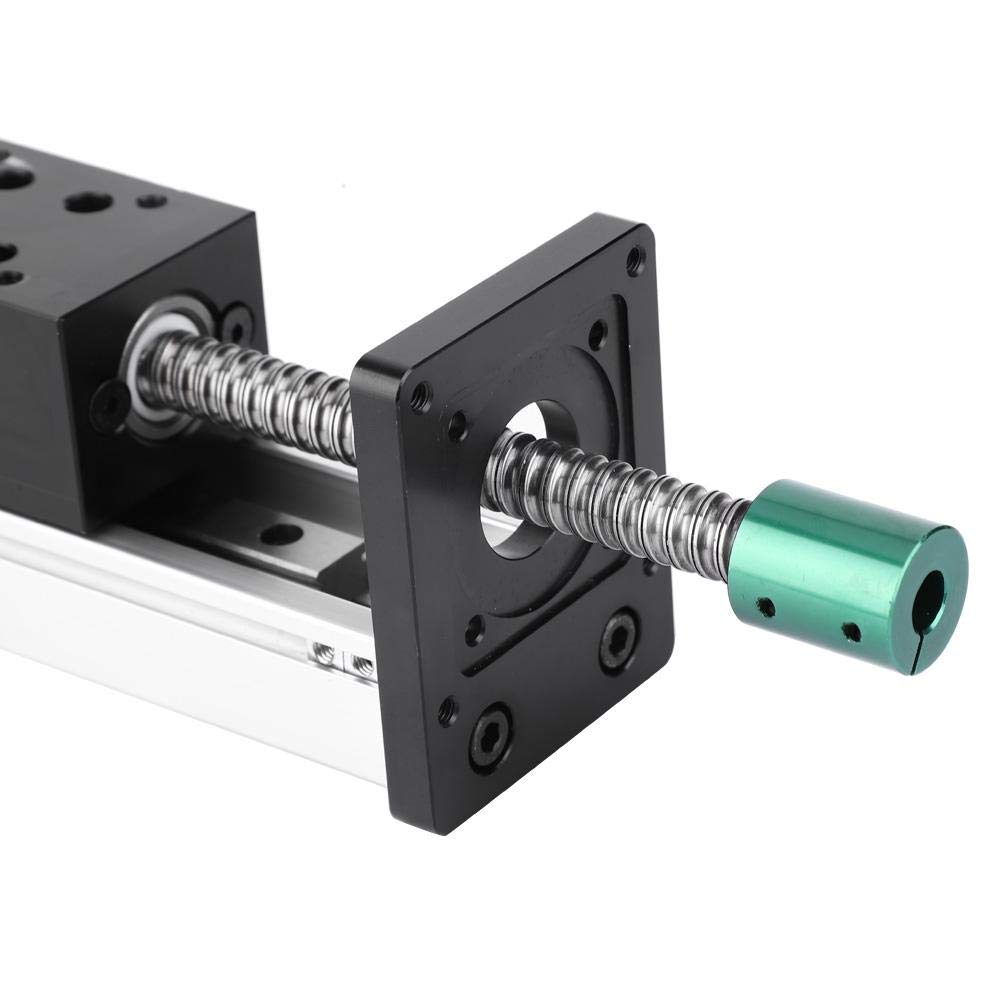 100mm Aluminum Alloy Linear Guide,Ball Screw Guide Rail,High Precision Manual Stroke Single Shaft Ball Screw Linear Guide Rail CNC Sliding Table 1605