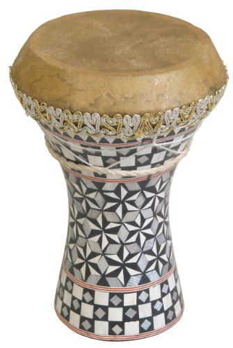 Mid-East Small Pretuned Mosaic Wooden Doumbek 6.5''x8.5'' by Mid-East