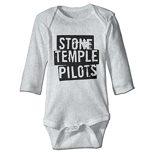 HYRONE Stone Temple Logo Pilots Baby Bodysuit Long Sleeve Climbing Clothes Size 12 Months -