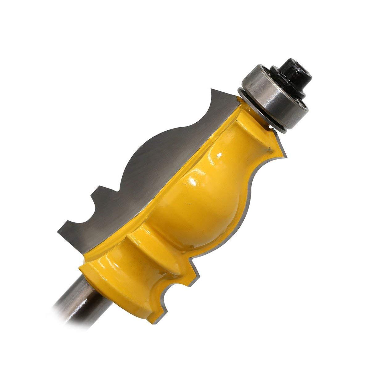 jaune et argent 8MM Shank Architectural Ciment/é Moulure /À B/âton Fraise /À Bois Fraise Outils /Électriques Coupe Bois Fraise