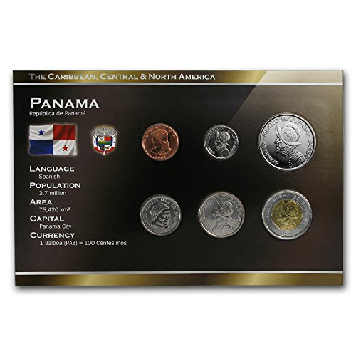 PA 1996-2008 Panama 1 Centesimo-1/2 Balboa Coin Set Uncirculated