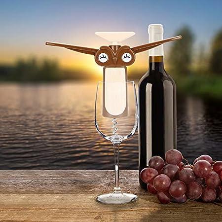Hemoton Destapador de Botellas de Vino Sacacorchos Alados Sacacorchos Somelier Sacacorchos de Dibujos Animados Lindo Creativo Novedad Sacacorchos Abridor de Vino Barman Practicar Abridor