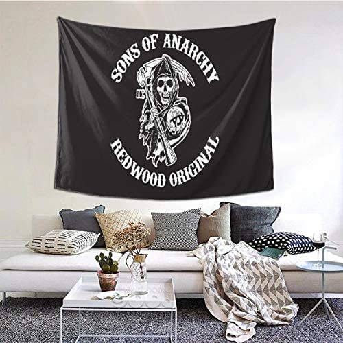 S-ons of an-Archy Wall Hanging Tapestry 3D Printed Wall Tapestry for Room Outdoor Decor 6051 Inch