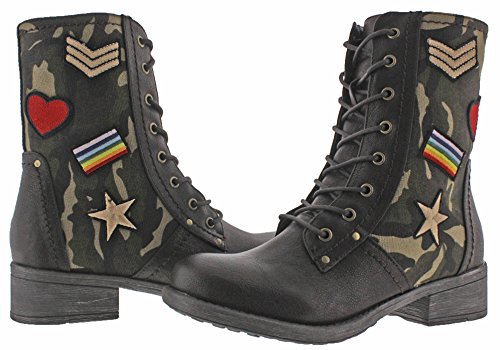 Patched Boots Military Brown MIA MIA Nate Nate Womens Inspired FxtKzTxq6w