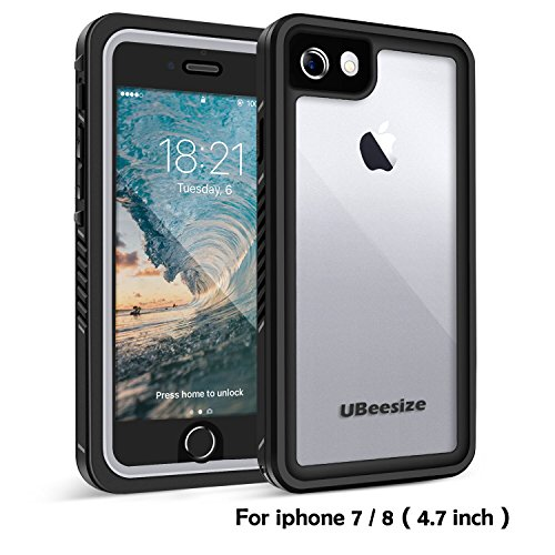 Price comparison product image Waterproof case for iPhone 7 / 8, UBeesize Transparent Shockproof Underwater Cover Full Body Protective Drop Resistant Heavy Duty Case for iPhone 7 & iPhone 8 (2017)