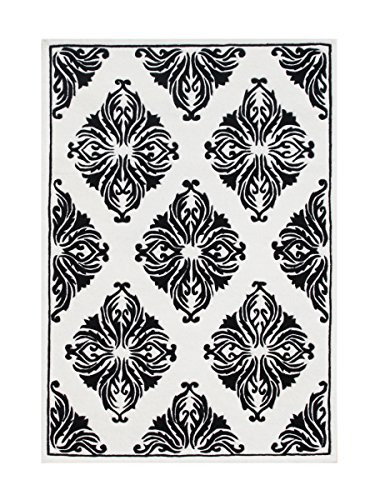 Git Mit Home Ay879-40-GMH Area Rugs, Off White-Black