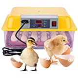 MING Mini Digital Automatic 24 Eggs Hatching Poultry Egg Incubator for Hatching Chicken Duck - US Plug