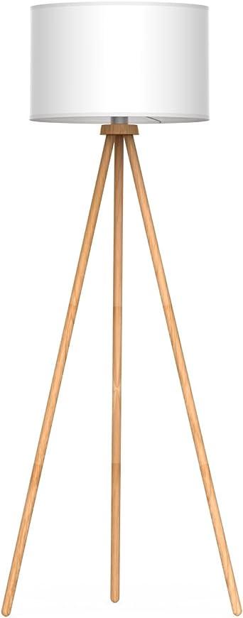 Tomons Lámpara de Pie LED Lámpara de Suelo Moderno Lámpara Vertical en Madera con Trípode Removible para Sala de Estar, Dormitorio, Estudio: Amazon.es: Electrónica