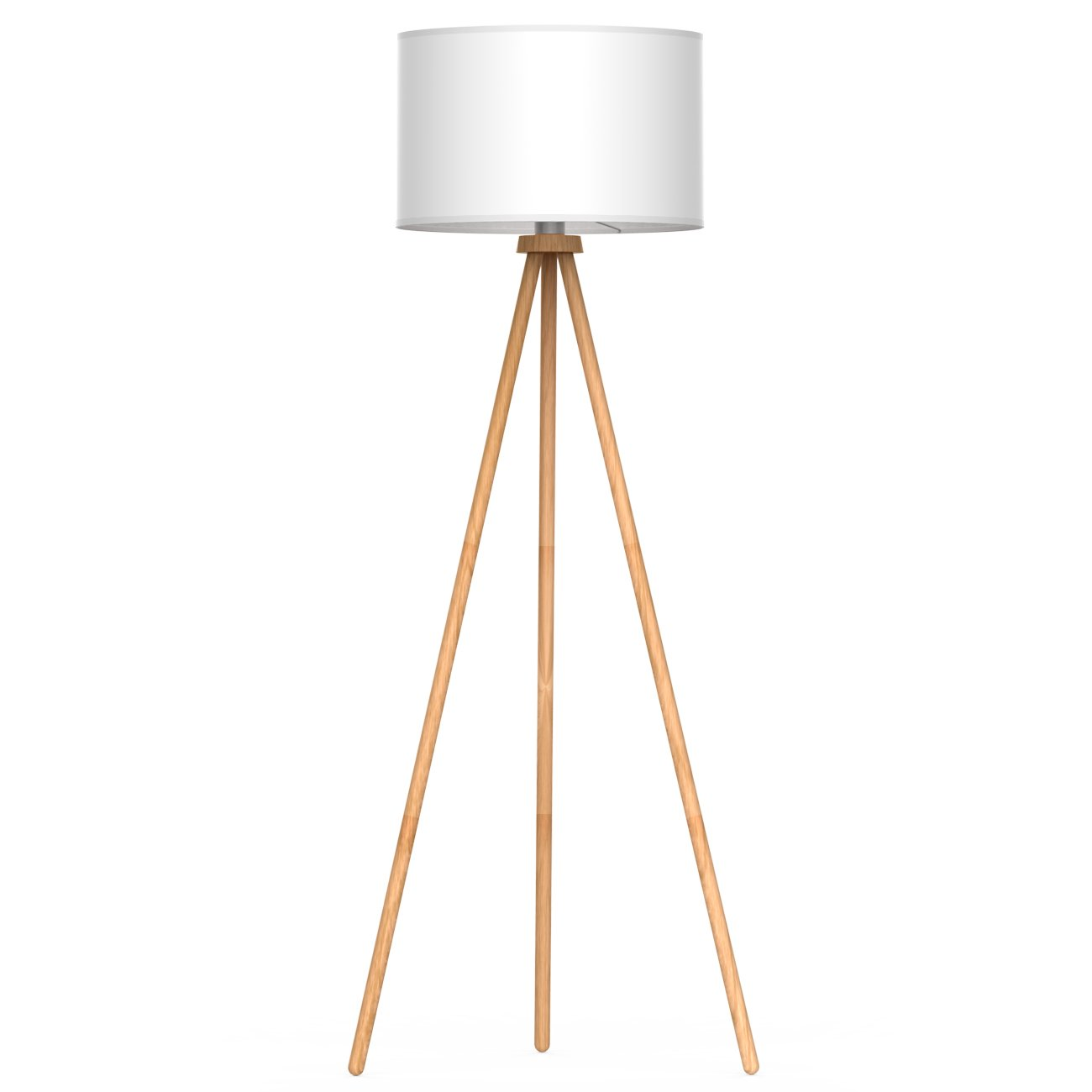 lámpara de pie con pantalla