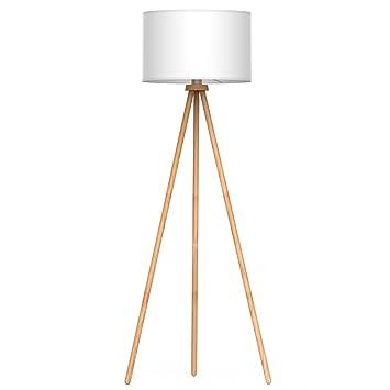 Tomons Lámpara de suelo Lámpara de Pie Lámpara vertical en madera ...