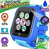 Kids Smart Watch Phone IP68 Waterproof GPS Tracker for Boys Girls Children Christmas