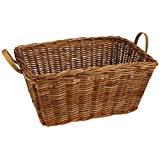 Basil Portland Basket w/o Cover Rattan, Natural Brown