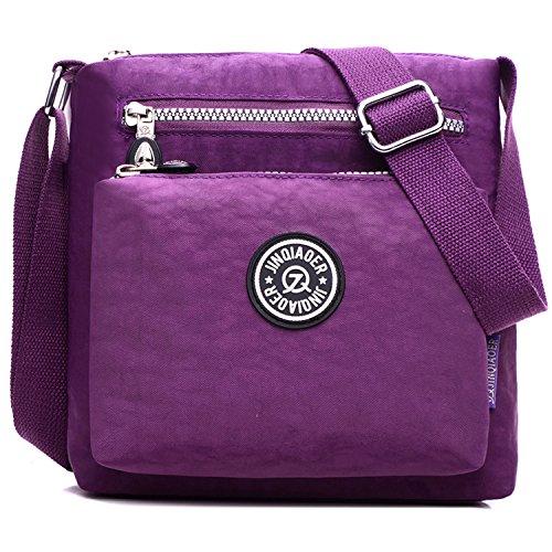 Fille Violet Sport Mode à Léger Bag Sac Sac bandoulière Petit Loisir Main Porté Sac pour Sac de Femme Sacoche Besace épaule Imperméable Outreo UgwqEx1Baq