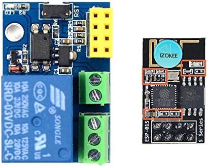 IZOKEE ESP8266 Relay with ESP8266 ESP-01S Serial WIFI Wireless Transceiver  Module for Arduino UNO R3 Mega2560 Nano Raspberry Pi
