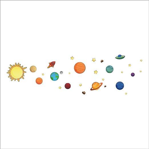 WALSTICKEL Pegatinas de pared Espacio Exterior Sistema Solar ...