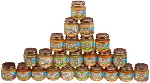 Земли Лучший фруктов и овощей Разнообразие Pack, 4,0 унций банки, 24-Count