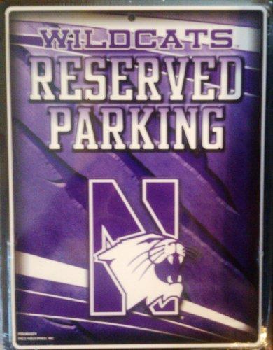 NCAA Northwestern Wildcats Metal Parking (Wildcats Metal Parking Sign)