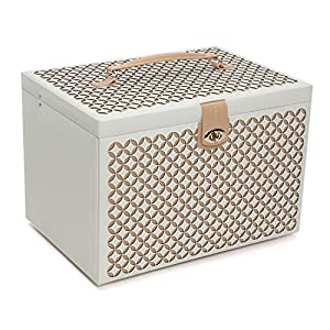 WOLF 301653 Chloe Extra Large Jewelry Box, Cream