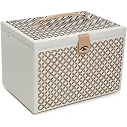 WOLF 301653 Chloe Jewelry Box, XL Chest, Cream