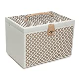 WOLF Chloé Extra Large Jewelry Box, XL Chest, Cream