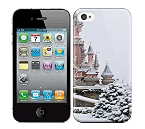 Best Power(Tm) HD Colorful Painted Watercolor Snow And Castle Hard Phone Case For Iphone 4/4S by icecream design