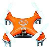 Olym Store (Tm) Cheerson Cx-10 Mini 2.4g 4ch 6 Axis LED Rc Quadcopter Airplane (Orange)