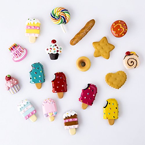Pack Of 18 Dessert Fridge Magnet Decor Refrigerator
